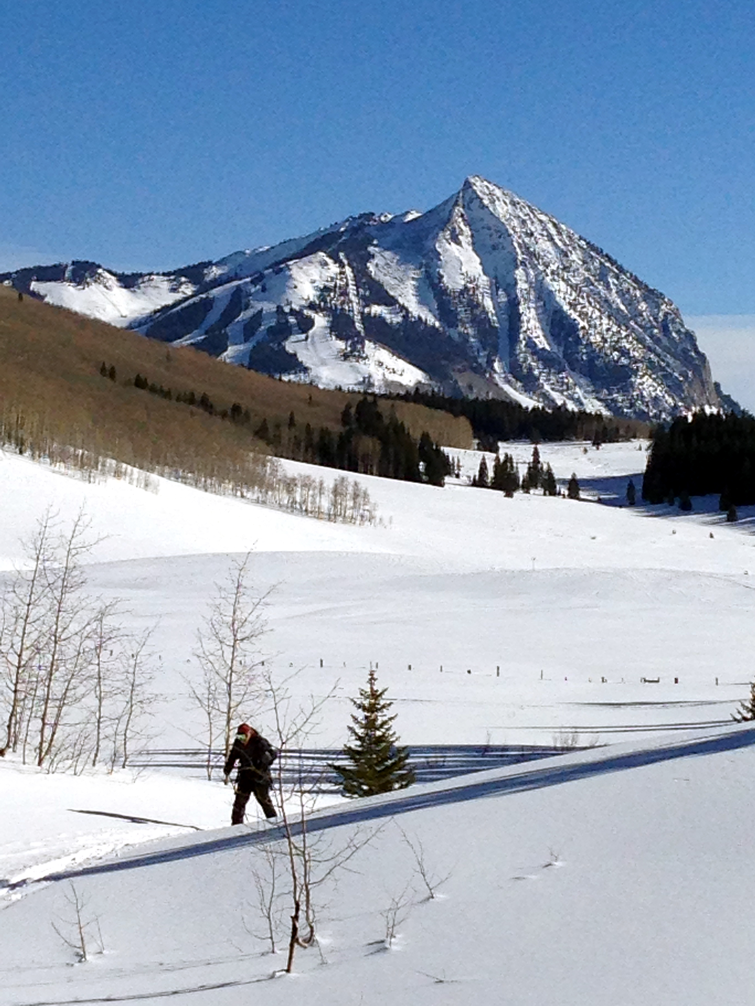 Cross country skiing in Crested Butte.